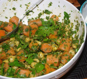 Chermoula salad after