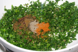 Chermoula salad before