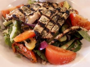 Chicken grilled and salad