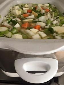 Chunky veggie soup 1