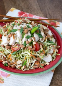 Grilled Chicken Broccoli Slaw Salad