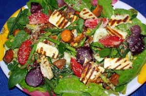Halloumi salad 1