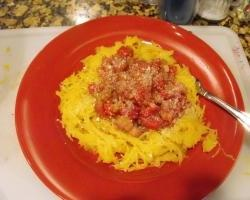 Spaghetti Squash with Roasted Tomato