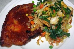 Vege fried rice 2