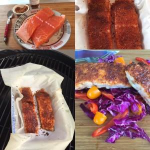 crusty salmon