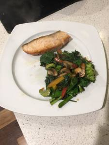 salmon and stir fry