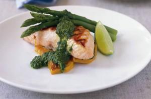 super quick salmon with veggies dinne