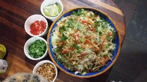 vermicelli noodle salad for dinner