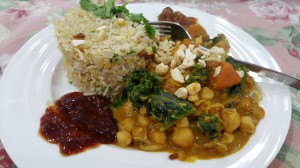 Chickpea and Kale curry 2