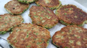 HALOUMI AND PEA FRITTERS 1
