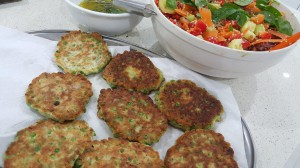 HALOUMI AND PEA FRITTERS 2