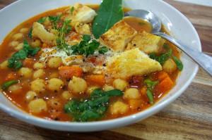 chickpea celery soup