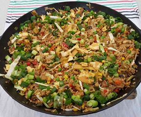 20 ingredients fried rice with vegetables 1