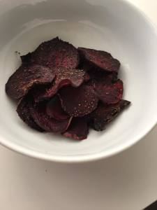 chips baked beetroot