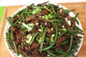 Greens Beans with Beef.
