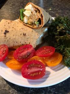 taco with kale chips